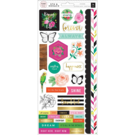 5th & Monaco Cardstock Stickers Foil Accents