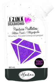 Izink Diamond Glitter Paint 24 Carats Purple