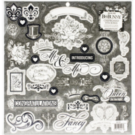 Tuxedos & Tiaras Chipboard Stickers