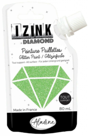 Izink Diamond Glitter Paint Light Green
