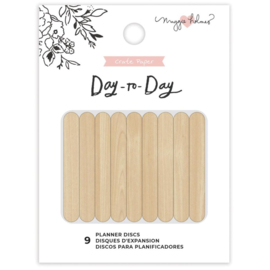 """Day-To-Day Planner Discs 1.75"""" Wood"""