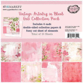 "Vintage Artistry Blush Collection Pack 6""X6"""