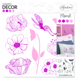 Decor Foam Stamps Floral