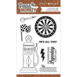 Grease Monkey Photopolymer Clear Stamps
