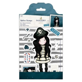Gorjuss Large Rubber Stamps - Piracy