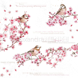 Flowers Paper Birds In Cherry Blossoms International