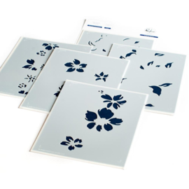 Seamless Floral Panel Stencils A2