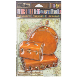 Architextures Treasures Piece Tan Luggage Set