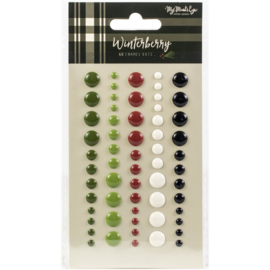 Winterberry Enamel Dots