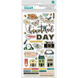 Fernwood Thickers Stickers Beautiful Day Icons/Chipboard