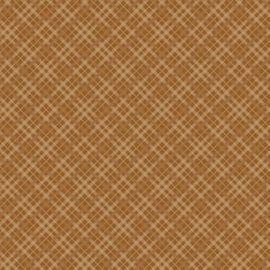Patterned single-sided brown plaid