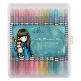 Gorjuss Watercolour Dual-tip Pens Brights