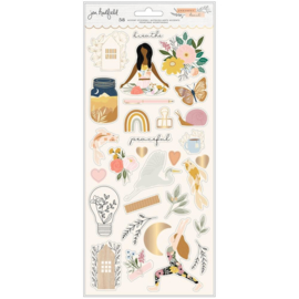 Peaceful Heart Cardstock Sticker Icons