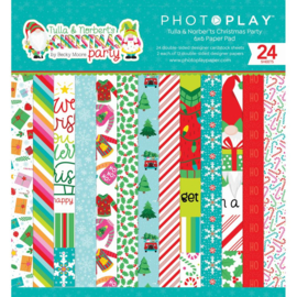 """Tulla & Norbert's Christmas Party Paper Pad 6""""X6"""""""