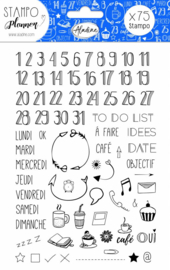 Foam Stamps Planner Numbers