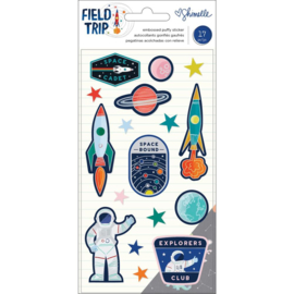 Field Trip Embossed Puffy Stickers