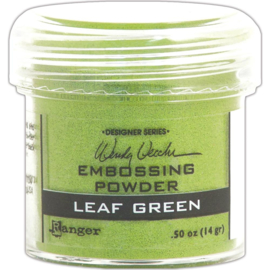 Embossing Powder Leaf Green