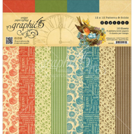 Seasons Patterns & Solids Paper Pad 12x12 Inch