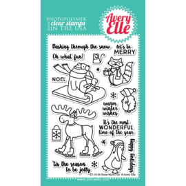 "Clear Stamp Set Snow Much Fun 4""X6"""