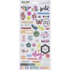 Brave & Bold Cardstock Stickers