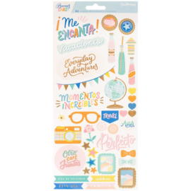 Buenos Dias Cardstock Stickers Accents & Phrases