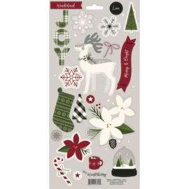 Winterberry Chipboard Elements
