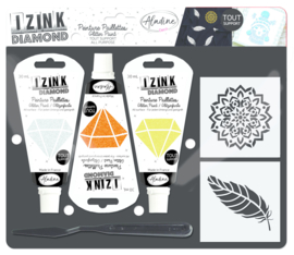 Izink Diamond Glitter Paint Kit Feather