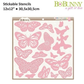 Stickable Stencil Butterflies