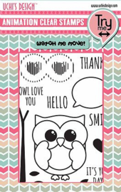 Animation Clear Stamp & Dies Owly Eyes