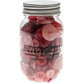 Button Mason Jars Valentine