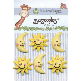 BaZooples Buttons The Sun & Moon