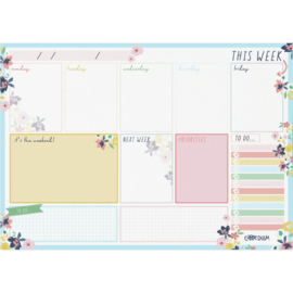 Ditsy Floral Weekly Planner Pad A4