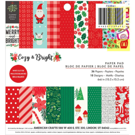 "Cozy & Bright Paper Pad 6""X6"""