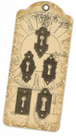 Ornate Metal Key Holes