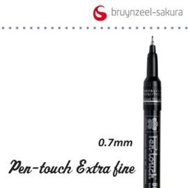 Sakura marker extra fijn 0.7mm zwart