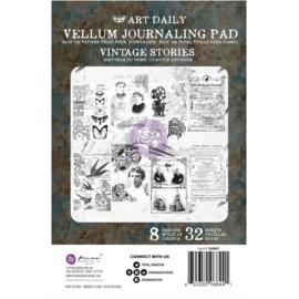 Art Daily Vellum Pad Vintage Stories