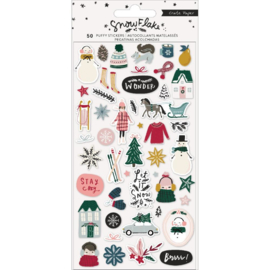 Snowflake Puffy Stickers