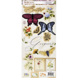 Botanical Journal Cardstock Stickers