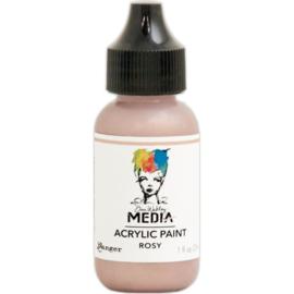 Dina Wakley Media Metallic Acrylic Paint Rosy