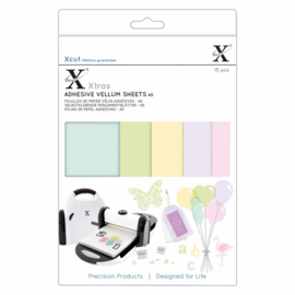 Xtra's A5 Adhesive Vellum Sheets Coloured