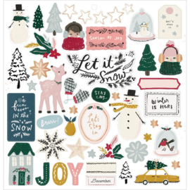 Snowflake Chipboard Stickers