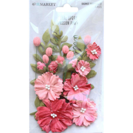 Royal Spray Paper Flowers Passion Pink