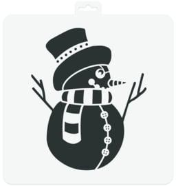 Stencil Snowman