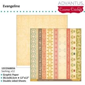 Evangeline paper sashing