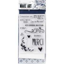 Make Art Stamp, Die & Stencil Set Merci & More