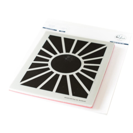 Cling Rubber Background Stamp Set A2 Pop-Out Sunburst