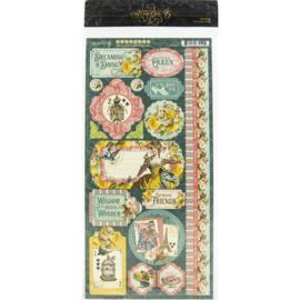 Ephemera Queen Cardstock Stickers