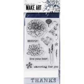 Make Art Stamp, Die & Stencil Set Bravo