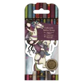 Gorjuss Mini Rubber Stamp - The Runaway