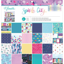"Sparkle City Single-Sided Paper Pad 12""X12"""